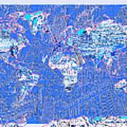 World Map Landmark Collage 8 Art Print