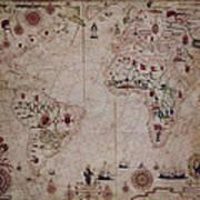 World Nautical Chart 1633 Art Print