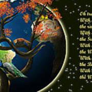 World Needs Tree Art Print