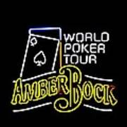 World Poker Tour And Amber Bock Art Print