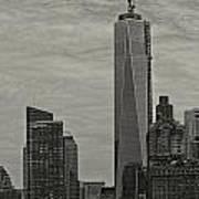 World Trade Center Construction Art Print