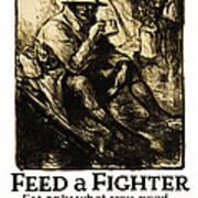World War 1 - U. S. War Poster Art Print by Daniel Hagerman