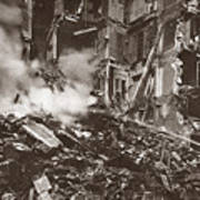 World War I Paris Bombed Art Print