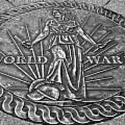 World War II Medallion Bw Art Print