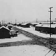 World War II, Winter Storm, Manzanar Art Print