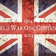 World War One Centenary Union Jack Art Print by Jane Rix
