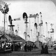 World's Fair Windmills Art Print