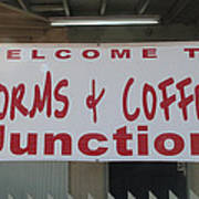 Worms And Coffee Junction Art Print