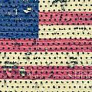 Worn Out American Flag Art Print