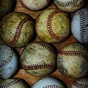 Worn Out Baseballs Art Print