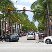 Worth Ave Palm Beach Fl Facing West Art Print