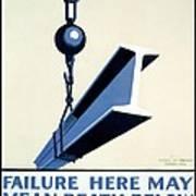 Wpa Vintage Safety First Art Print