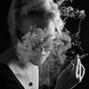 Wreathed In Smoke Art Print