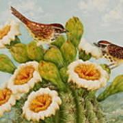Wrens On Top Of Tucson Art Print by Summer Celeste