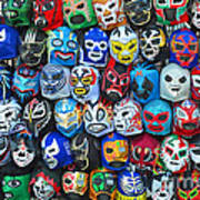 Wrestling Masks Of Lucha Libre Art Print
