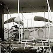 Wright Biplane Engine And Seats Art Print