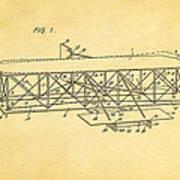 Wright Brothers Flying Machine Patent Art 1906 Art Print