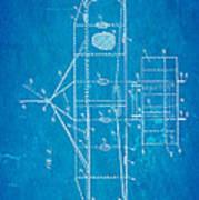 Wright Brothers Flying Machine Patent Art 2 1906 Blueprint Art Print