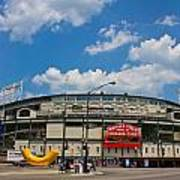 Wrigley Field And Clouds Art Print