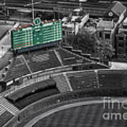Wrigley Field Chicago Sports 04 Selective Coloring Art Print