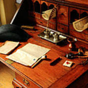 Writer - The Desk Of A Gentleman  Art Print by Mike Savad