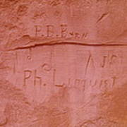 Writing In The Desert Art Print