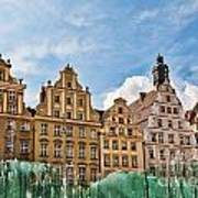 Wroclaw Fountain At The Town Square Art Print
