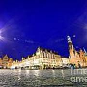 Wroclaw Poland Historical Market Square And The Town Hall Art Print