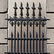 Wrought Iron Window Grille Art Print