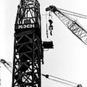 Wtc Fueling Crane  Art Print