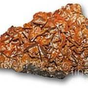 Wulfenite Mineral Art Print