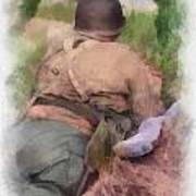 Ww II Us Army Soldier Photo Art Art Print