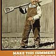 Wwi Farming C1915 Art Print