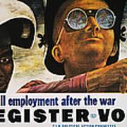 Wwii: Employment Poster Art Print by Granger