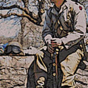 Wwii Soldier Two Art Print