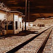 Rails West Art Print