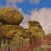 Wyoming Badlands Rock Detail Two Art Print