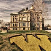 Wyoming Capitol Building Art Print