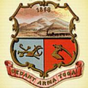 Wyoming Coat Of Arms - 1876 Art Print