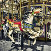 Xmas Carousel Art Print