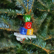 Xmas Noel Ornament Photo Art 01 Art Print
