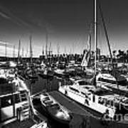Yacht At The Pier  Art Print