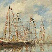 Yacht Basin At Trouville Deauville Art Print