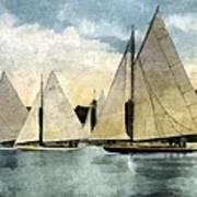 Yachting In Saugatuck Art Print
