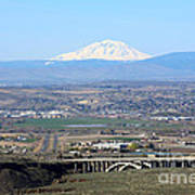 Yakima Valley Outlook With Mount Adams Art Print