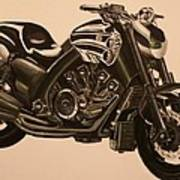 Yamaha V-max Art Print