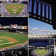 Yankee Stadium Collage Art Print by Allen Beatty
