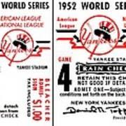 Yankees 4th Straight - Modern Art Print