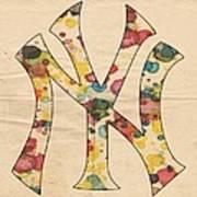 Yankees Vintage Art Art Print
