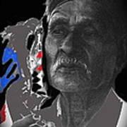 Yaqui Pascola Dancer Smoking Cigarette New Pascua Arizona 1969-2013 Art Print